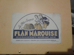 ---- BUVARD --- FLAN Marquise - Alimentare