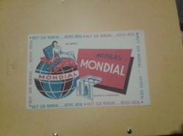 ---- BUVARD ---   Matelas MONDIAL - Produits Ménagers