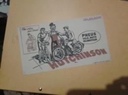 ---- BUVARD ---   Pneus Velo Moto HUTCHINSON TB(petits Défauts Legers - Gas, Garage, Oil