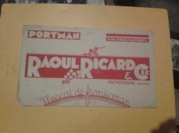 ---- BUVARD --- Vin Doux Naturel Raoul Ricard FRONTIGNAN  Muscat PORTMAN Petits Défauts - Liqueur & Bière