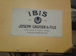 ---- BUVARD ---  COGNAC  Ibis - Joseph GAUTIER - Liquore & Birra