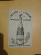 ---- BUVARD ---  Caves Du Nord Et La Champagne Vins Mousseux Supérieurs - Liquore & Birra