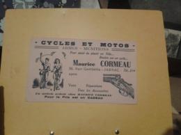 ---- BUVARD ---    Cycles Et Motos Armes MAURICE CORMEAU JARNAC - Sports