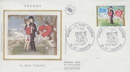 Enveloppe  FDC  1er  Jour   FRANCE   LES  AMOUREUX  DE  PEYNET     SAINT  VALENTIN   1985 - FDC