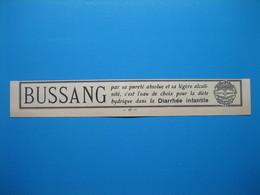(1929) BUSSANG, L'eau De Choix Pour La Diète Hydrique Dans La Diarrhée Infantile - Unclassified