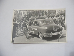 FOTO CICLISMO 39°GIRO D'ITALIA 1956 CICLISTA   AUTO D'EPOCA Vintage - - Ciclismo