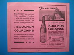 (1929) Le BOUCHON COURONNE Utilisé Sur Les Bouteilles D'eau De BUSSANG -- Produits Pharmaceutiques BENGUÉ - Vecchi Documenti