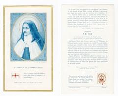 Relique Sainte Thérèse De L'Enfant Jésus, Lisieux, étoffe Ayant Touché à Ses Reliques, N° 8 - Imágenes Religiosas
