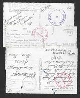 Algérie - 3 Cartes Avec Cachets De Secteur Postal - Storia Postale