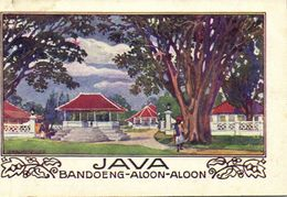 Indonesia, JAVA BANDUNG, Aloon-Aloon (1910s) Artist Signed Hans Kalmsteiner - Indonesia