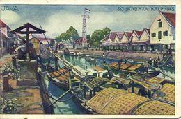 Indonesia, JAVA SOERABAIA, Kali Mas (1910s) Artist Signed Hans Kalmsteiner - Indonesia