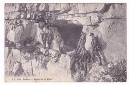 Belle CPA Animée Salève (Haute-Savoie), Grotte De La Mule, Alpinisme. A Voyagé En 1910 - France