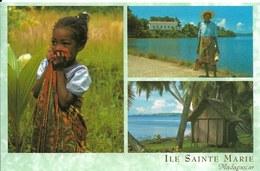 Cp Madagascar, île Sainte Marie, Fillette, Case - Madagascar