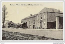 TOERNICH ..-- Arrêt Du TRAM . Cantine MILITARIA . 1907 Vers CHATELINEAU ( Mr A. CAMBIER , Curé ) . Voir Verso - Arlon