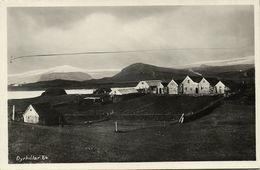 Iceland, DYRHOLAR, Panorama With Houses (1930s) RPPC Postcard - Iceland