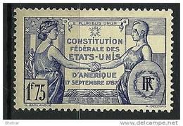 "FR YT 357 "" Constitution Des Etats -Unis "" 1937 Neuf** - Frankreich"