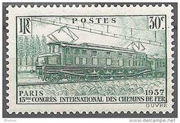 """FR YT 339 """" Locomotive électrique """" 1937 Neuf** - France"""