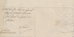 429DT -- Lettre Avec Sceau En Relief Chambre Des Comptes 1771 Au Chevalier Diericx à GAND - Concerne Terre à ZELLEBEKE - 1714-1794 (Austrian Netherlands)
