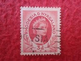 SELLO USADO USED STAMP RHODESIA & NYASALAND 3D VER FOTO/S Y DESCRIPCIÓN. - Rodesia & Nyasaland (1954-1963)