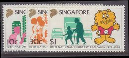 Singapore 1988 10th Anniv Of National Courtesy Campaign Unmounted Mint. - Singapore (1959-...)