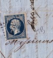 Lettre 1857 Avec Correspondance Bordeaux Gironde Lyon Rhône Vermouth Vin Wine - Marcophilie (Lettres)