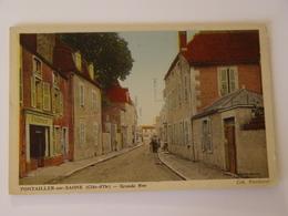 COTE D'OR-PONTAILLER SUR SAONE-GRANDE RUE -ANIMEE - France