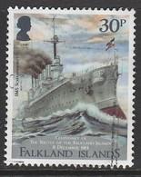Falkland Islands 2014 The 100th Anniversary Of The Battle Of The Falkland Islands 30 P Multicolored SW 1282 O Used - Falkland Islands