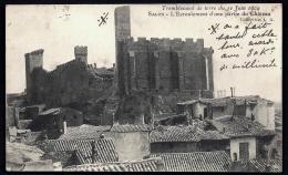 CPA ANCIENNE- FRANCE- SALON (84)- TREMBLEMENT DE TERRE DE 1909- RUINES DU CHATEAU- INFO SUR LA TOUR- - Salon De Provence
