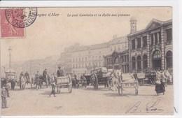 62 BOULOGNE Sur MER Le Quai Gambetta Et La Halle Aux Poissons , Attelages Charettes Avec Chevaux - Boulogne Sur Mer