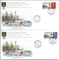 NOUVELLE CALEDONIE (New Caledonia)- 2 Enveloppes Avec Timbre Personnalisé TPP - 2018 - Vedette Dumbea ( Boat ) - New Caledonia