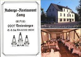 72496139 Troisvierges Auberge Restaurant Lamy Gastraum Troisvierges Ulflingen - Cartes Postales