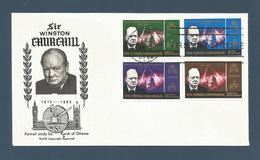 NOUVELLES HEBRIDES (New Hebrides) - Premier Jour FDC - 1966 - YT 231-234 - Churchill - FDC