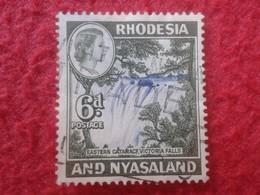 SELLO USADO USED STAMP RHODESIA & NYASALAND 6d POSTAGE ESTAERN CATARACT, VICTORIA FALLS VER FOTO/S Y DESCRIPCIÓN. - Rodesia & Nyasaland (1954-1963)