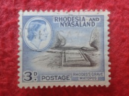 SELLO USADO USED STAMP RHODESIA & NYASALAND 3 D POSTAGE RHODES'S GRAVES MATOPOS VER FOTO/S Y DESCRIPCION - Rodesia & Nyasaland (1954-1963)