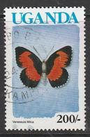 Uganda 1990 Butterflies 200 S Multicolored SW 851 O Used - Uganda (1962-...)