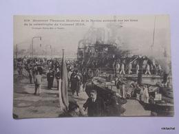 Monsieur Thomson,ministre De La Marine Arrivant Sur Les Lieux De La Catastrophe Du Cuirassé Iena - Toulon