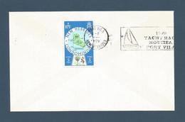 """NOUVELLES HEBRIDES (New Hebrides) - Flamme """"1979 YACHTRACE NOUMEA PORT VILA - 1979 - TP 508 - FDC"""