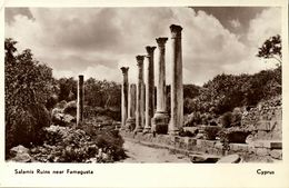 Cyprus, FAMAGUSTA, Salamis Ruins (1930s) Gulian RPPC Postcard - Cyprus