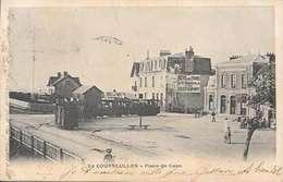 Cpa  14 Courseulles Sur Mer,  Le Train Place De Caen , écrite 1903 - Courseulles-sur-Mer