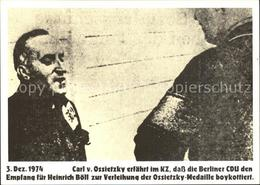 72534826 Politik Verleihung Der Ossietzky-Medaille Klaus Staeck Politik - Evènements