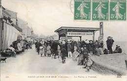 Cpa  14 Saint Aubin Sur Mer ,  La Pierre à Poisson , écrite 1910 - Saint Aubin