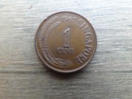 Singapour  1  Cent  1967  Km 1 - Singapur