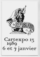 CPM Cartexpo 13 Par MOC 1989 Non Circulé Salon De Cartes Postales Marianne - Bourses & Salons De Collections