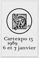 CPM Cartexpo 13 Par MOC 1989 Non Circulé Salon De Cartes Postales Chat Cat - Bourses & Salons De Collections