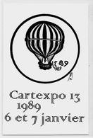 CPM Cartexpo 13 Par MOC 1989 Non Circulé Salon De Cartes Postales Ballon Montgolfière - Bourses & Salons De Collections