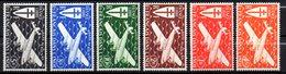 Col 7 : Inde Neuf X MH PA  N° 1 à 6 Cote 10,50 € - India (1892-1954)