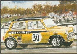 Britax Mini Cooper In 1969 British Saloon Car Championship  - Golden Era Postcard - Passenger Cars