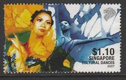 Singapore 2007 Cultural Dances  1.10 $ Multicolored SW 1620 O Used - Singapore (1959-...)