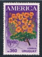 Uruguay #3756 Used UPAE Flowers  CV 2.75 (U0280) - Uruguay