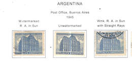 Argentina PO 1945 Post Office Buenos Aires Scott.541/543+ See Scan On Scott.Page - Argentina